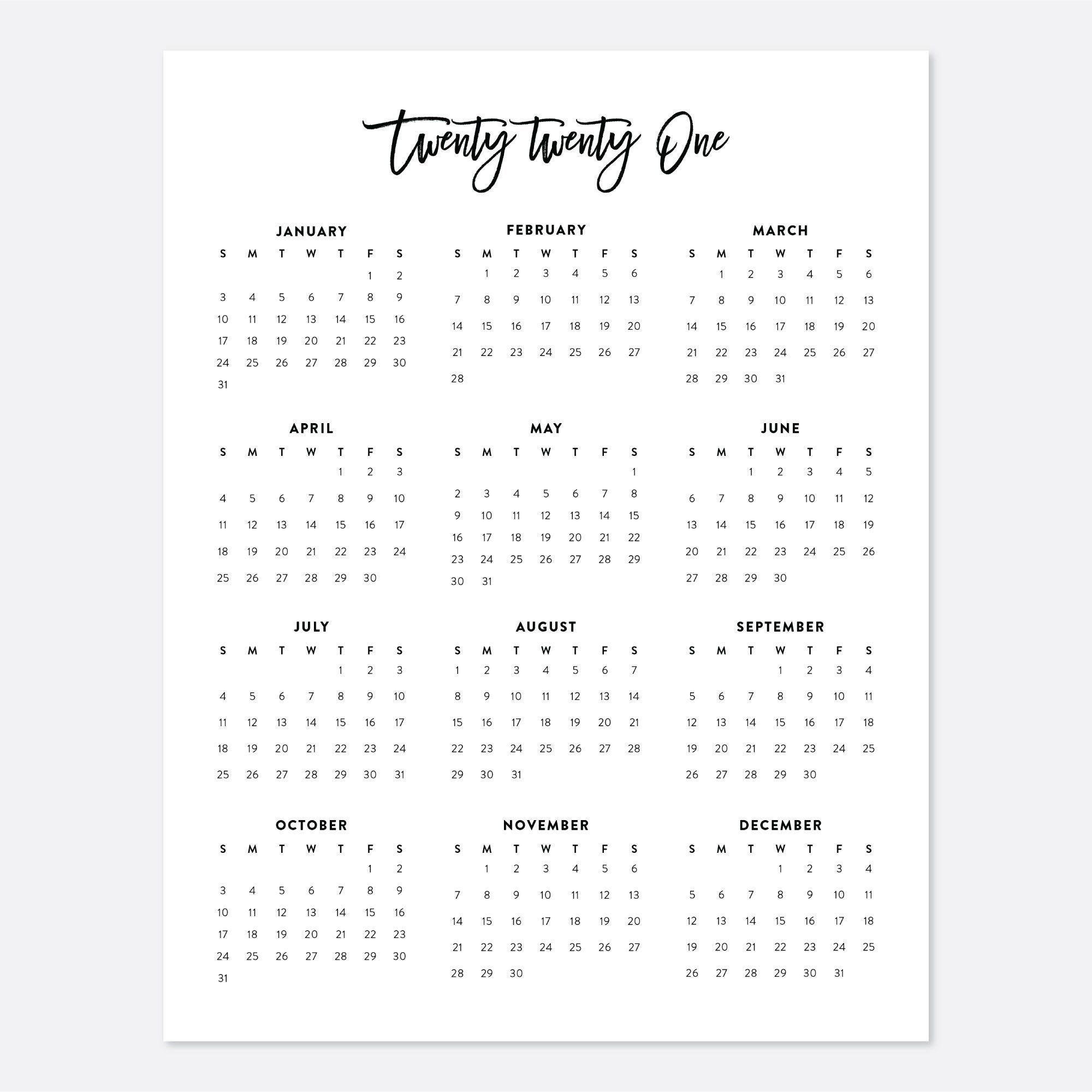 Free Printable Calendar 2021 8.5 X 11   Printable Calendar 2021