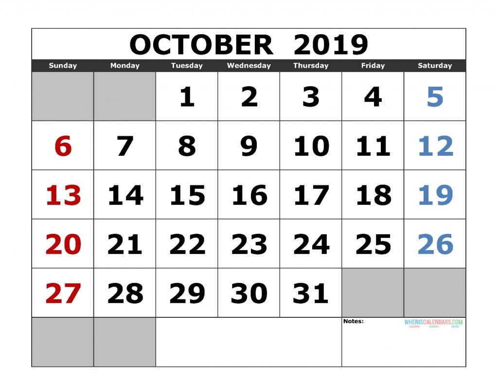 Free Printable Calendar Landscape Format | Month Calendar Printable