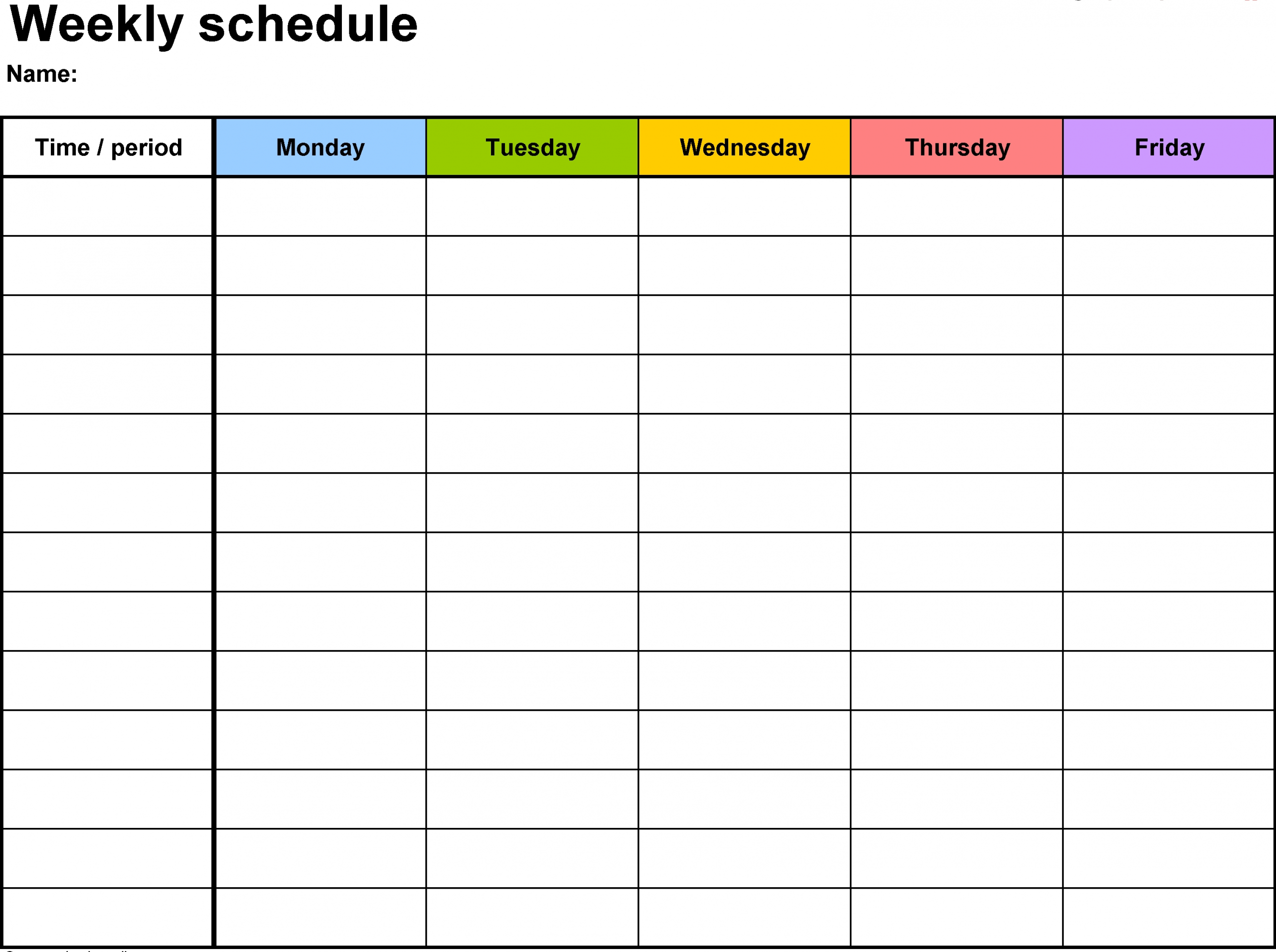 Free Printable Calendar With Time Slots | Calendar Printables Free Templates