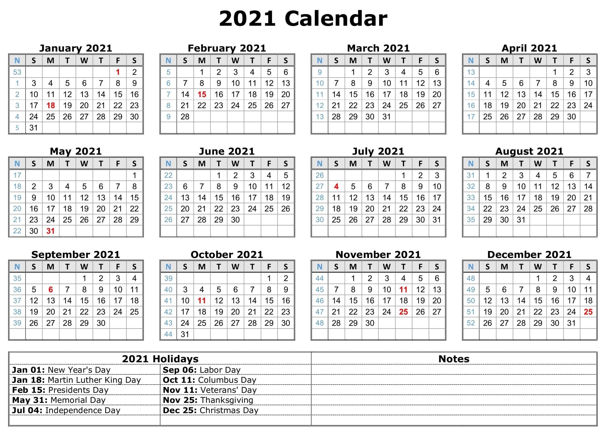 Free Printable Calendar Year 2021 | Calendar Printables Free Templates