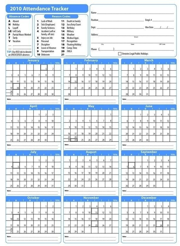 Free Printable Employee Vacation Calendar Graphics