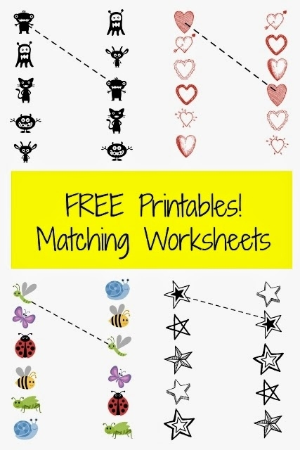 Free Printable Pre-K Matching Worksheets ~ Planet Weidknecht