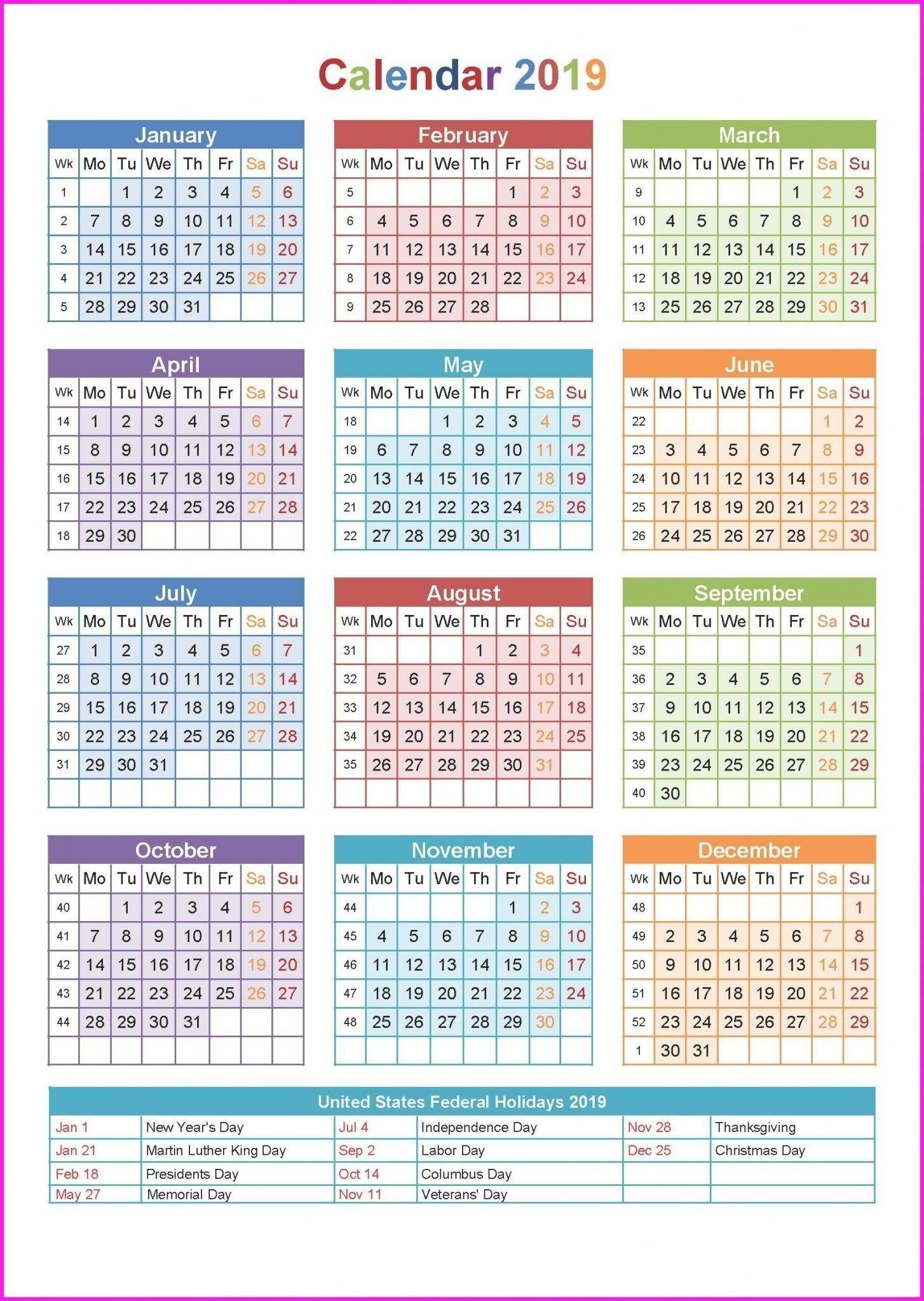 Free Yearly 5.5 X 8.5 Calendar 2020 - Calendar Inspiration Design