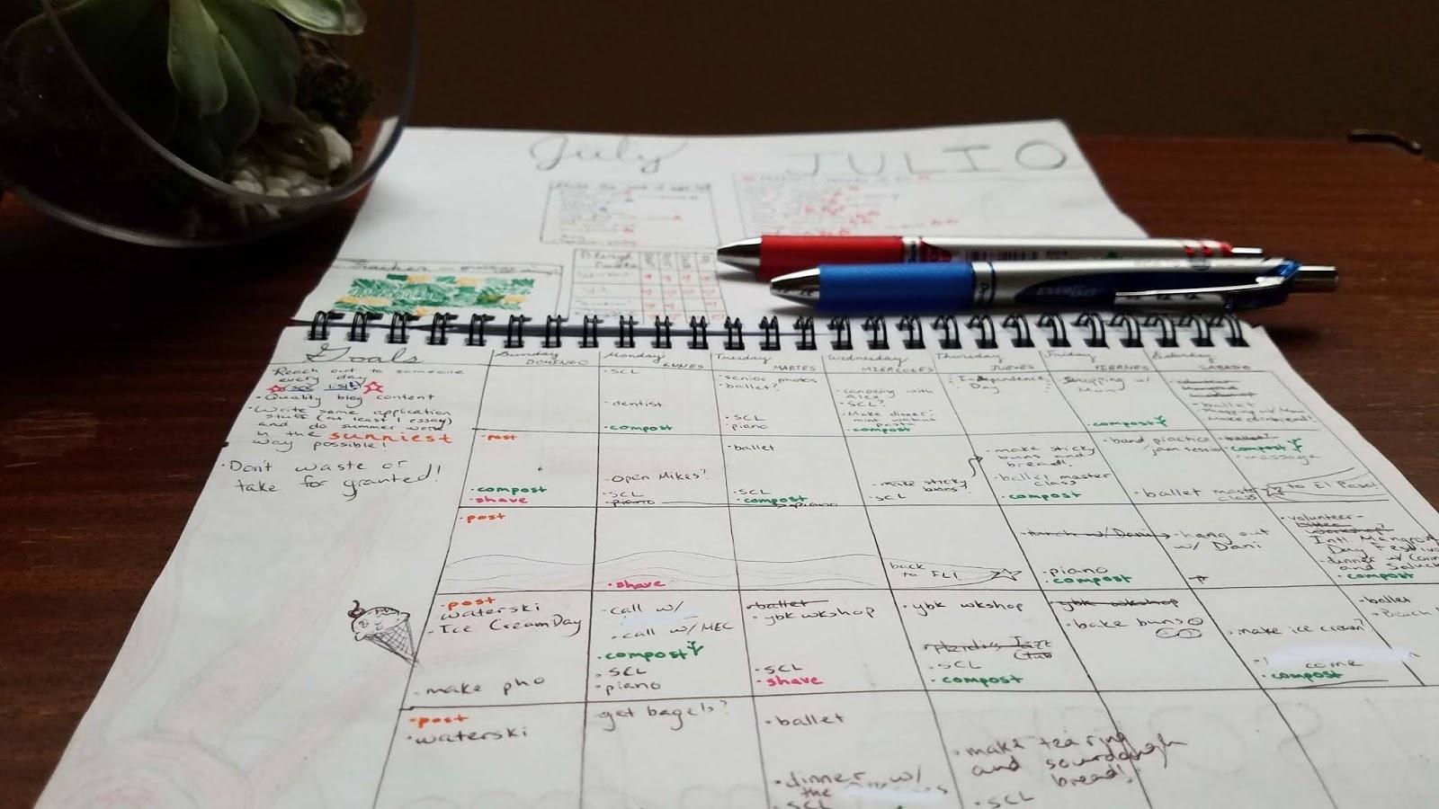 How To Make A Bullet Journal-Calendar Hybrid - The Blergh