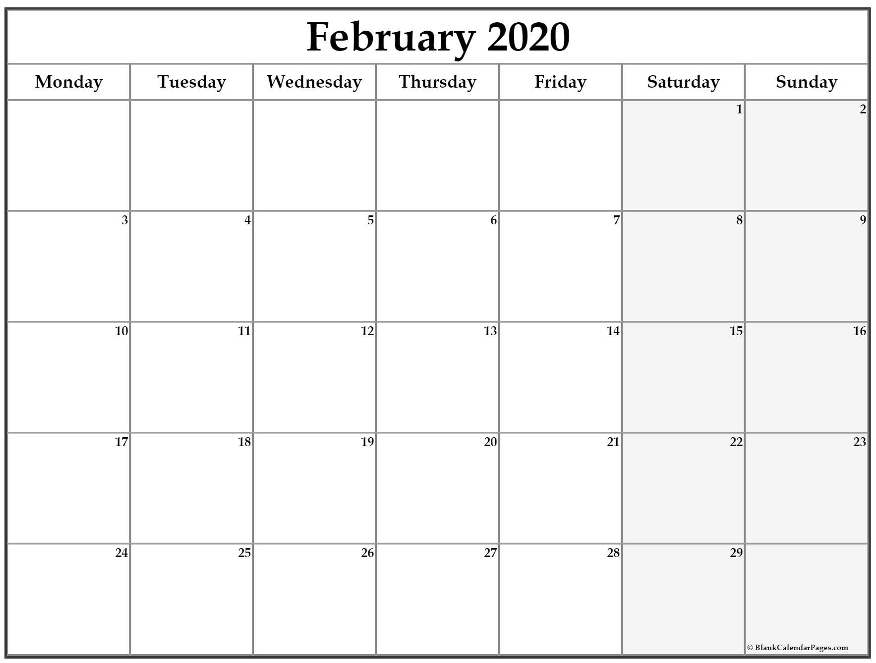 Image Of Weekly Calendar Monday Through Sunday   Calendar Template 2021