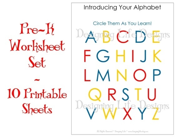 Items Similar To Homeschool Worksheets - 10 Printable Pages For Pre-K To Kindergarten On Etsy