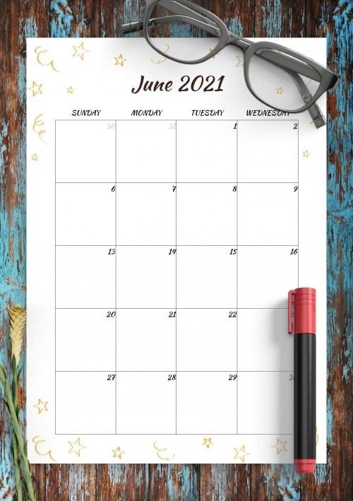 June 2021 Calendar Templates - Download Pdf