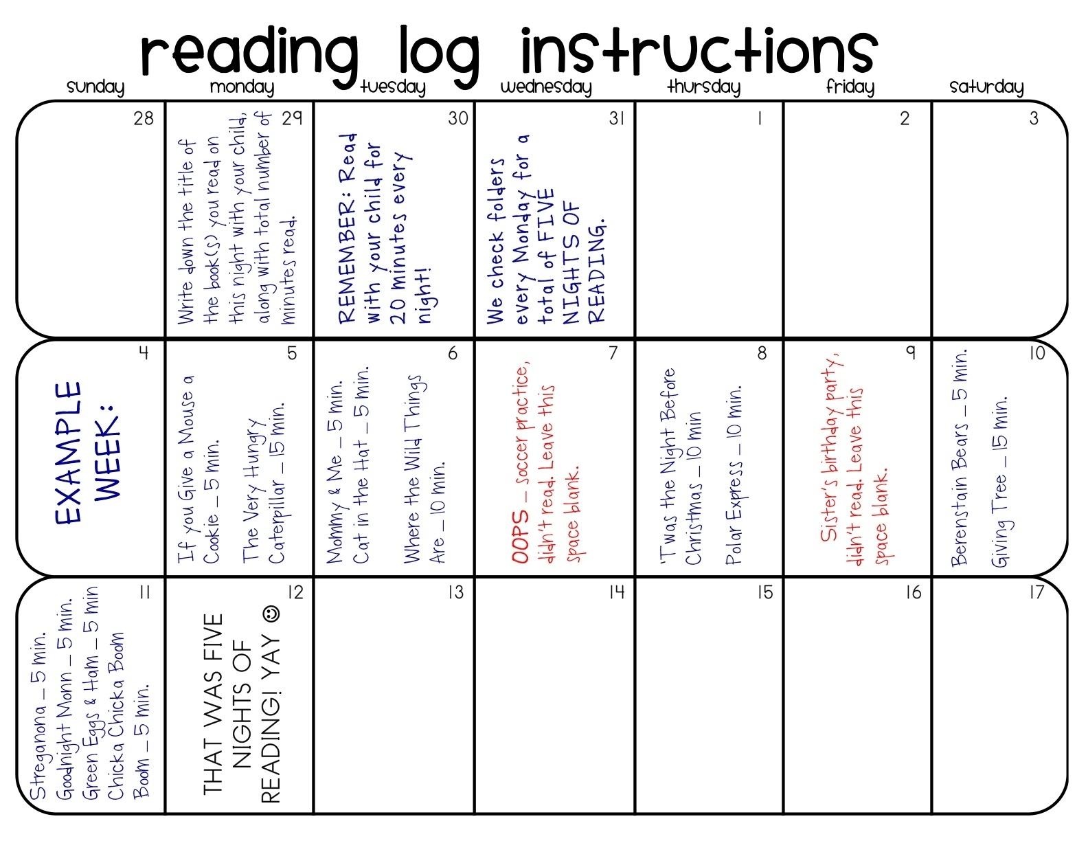 Kindertastic: Reading Log