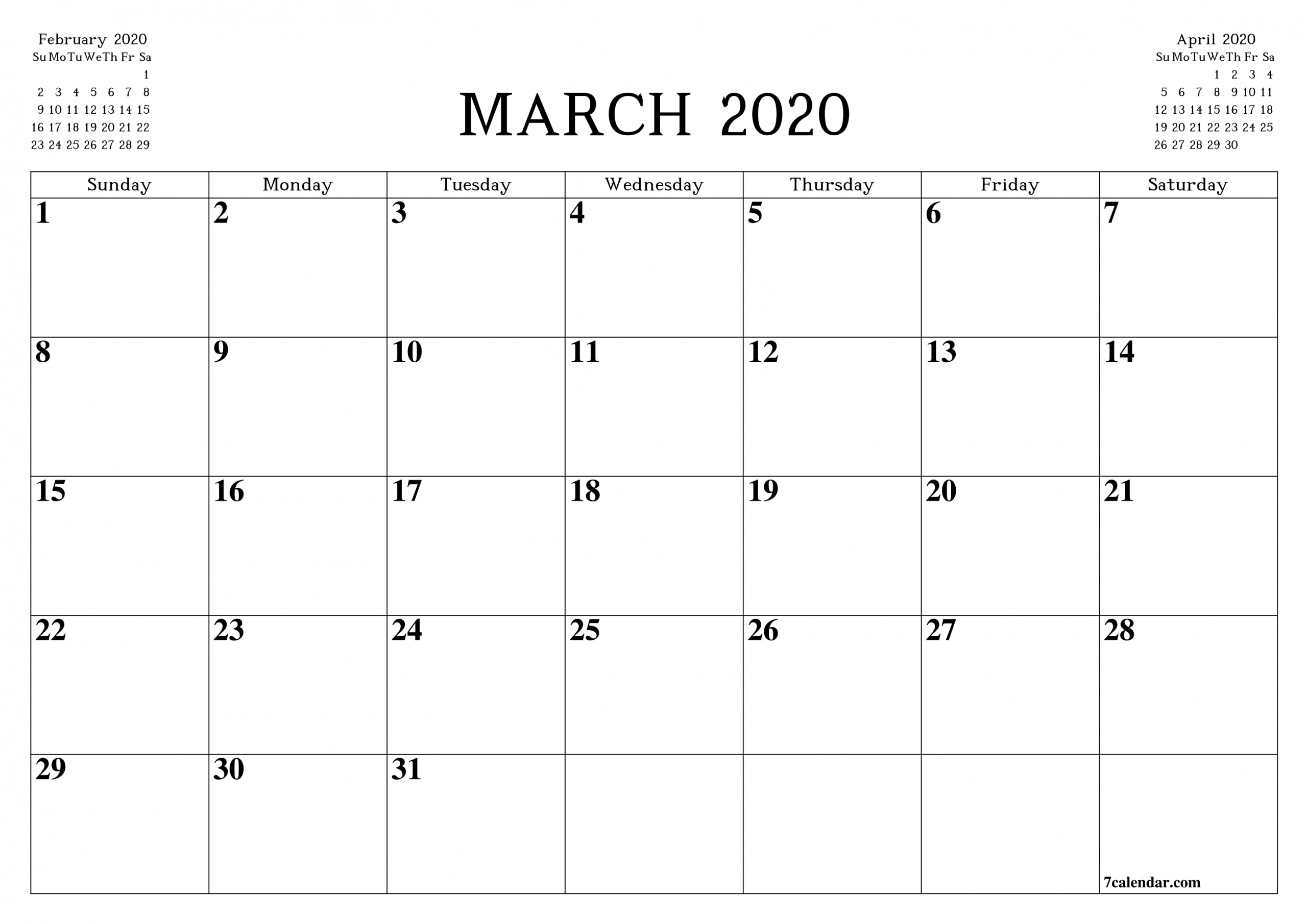 Legal Size Printable Calendar 2020 | Calendar Template Printable Monthly Yearly