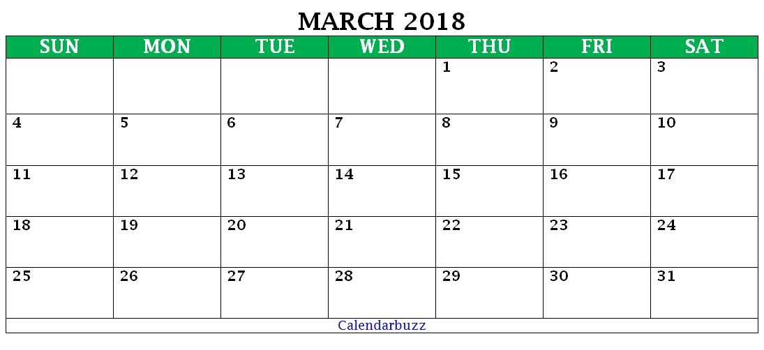 March 2018 Waterproof Pdf Calendar   Calendar Printables, Calendar, Calendar Pdf