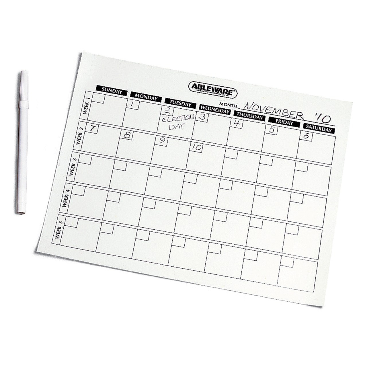 Maxiaids   Magnetic Write-On-Wipe-Off Generic Calendar