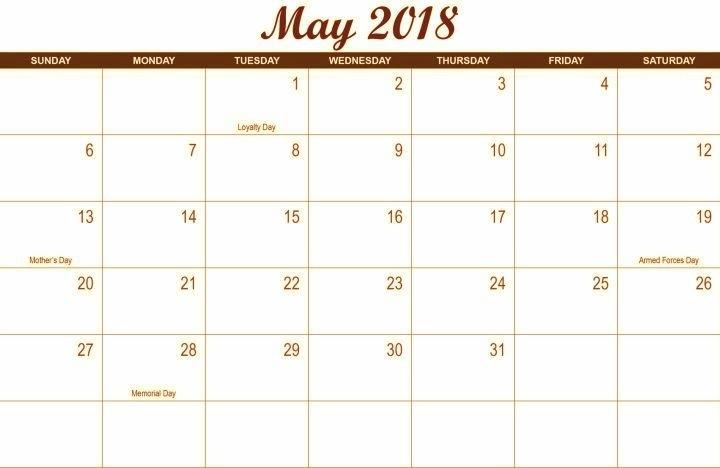May 2018 Holidays Waterproof Calendar   Calendar Printables, Calendar, Print