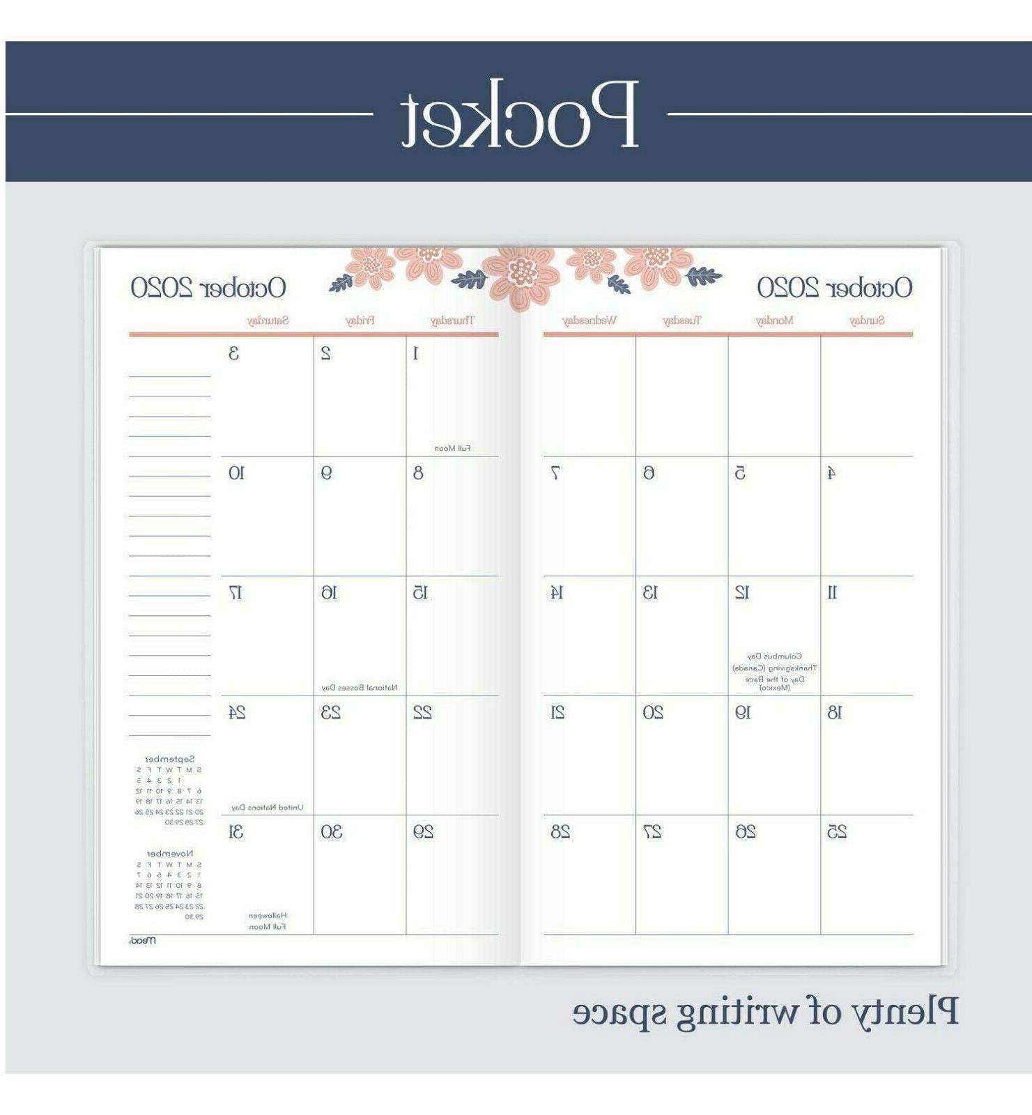"Mead 2021-2022 Pocket Calendar Mthly Planner, 3-1/2"" X"