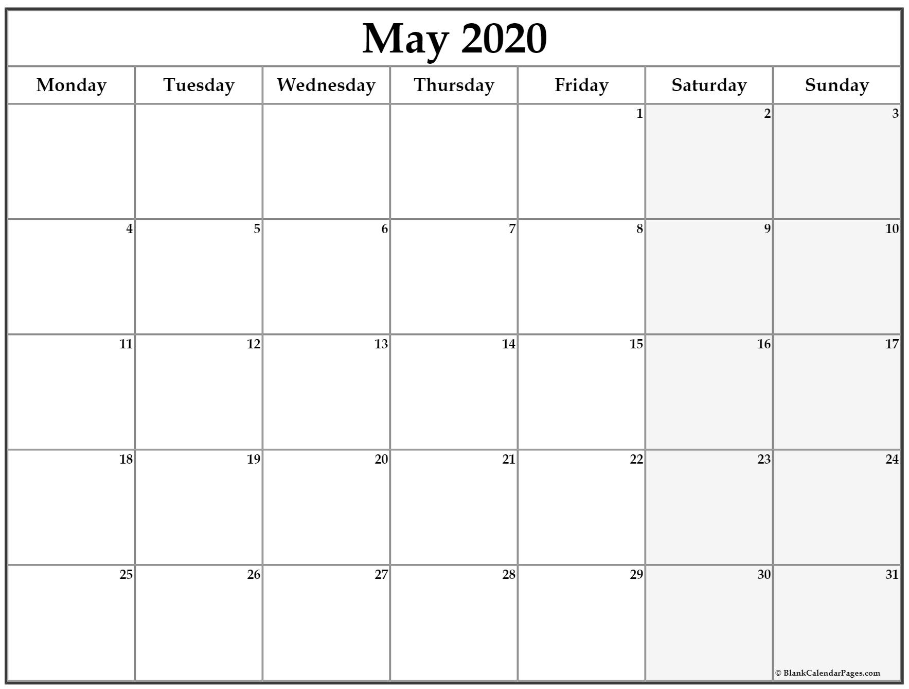 Monday To Sunday Planner | Ten Free Printable Calendar 2020-2021