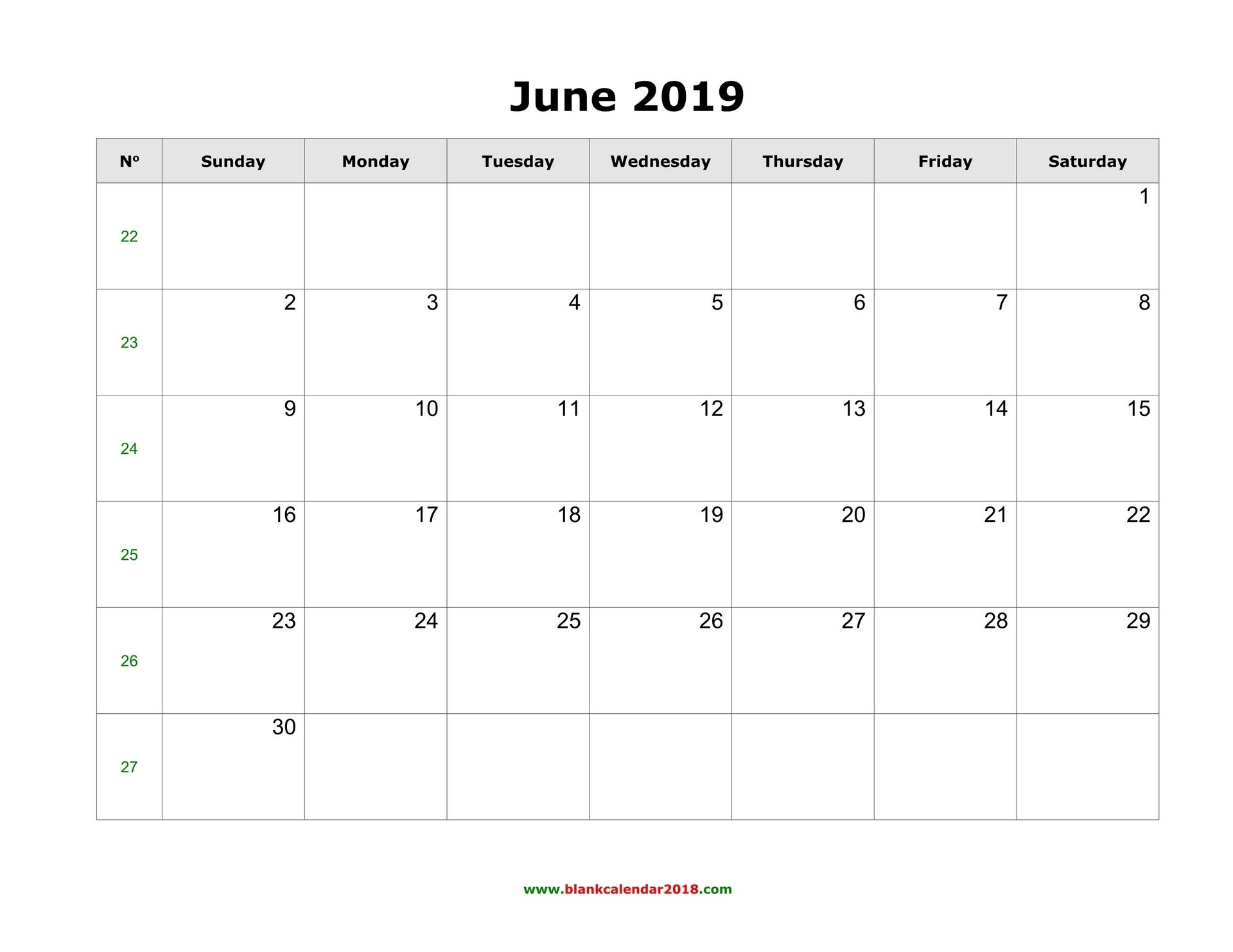 Month To View Calendar Template 2019   Free Printable Calendar