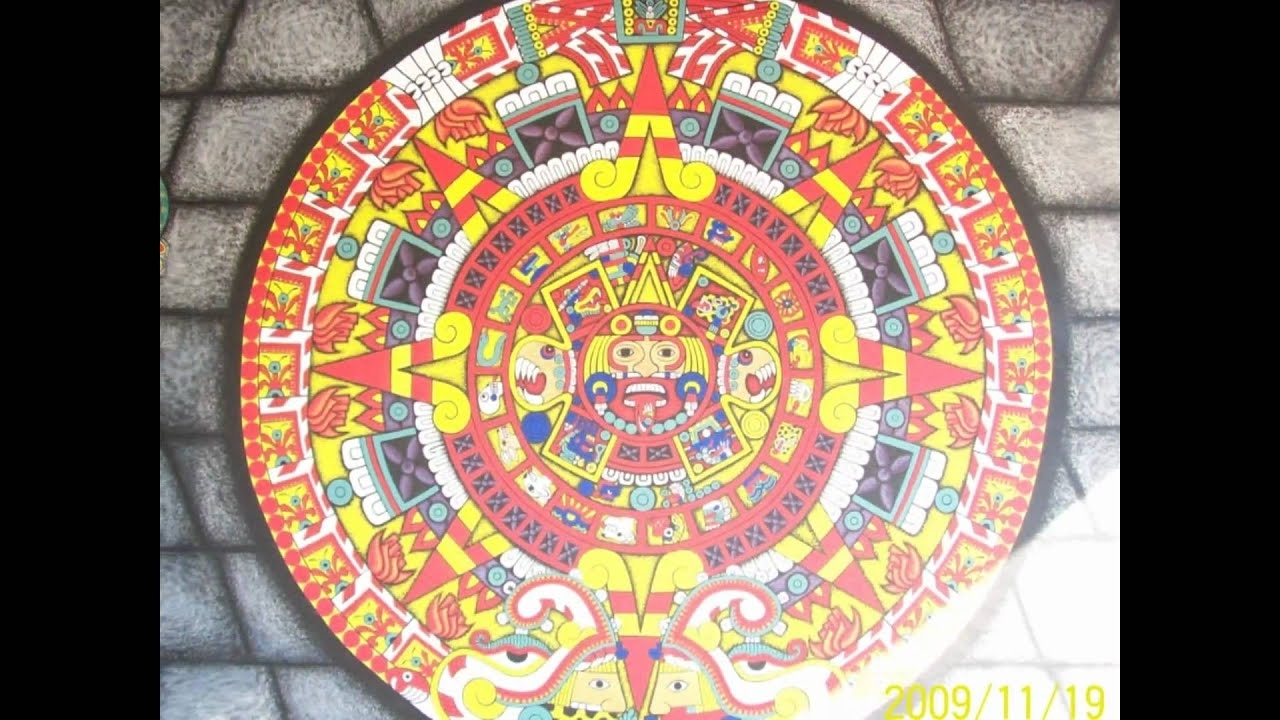 Mural De Calendario Azteca Realizado Con Comex - Youtube
