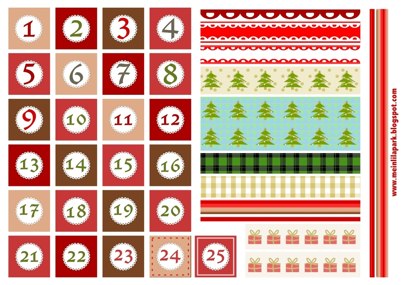 Numbers 1 31 To Print :-Free Calendar Template
