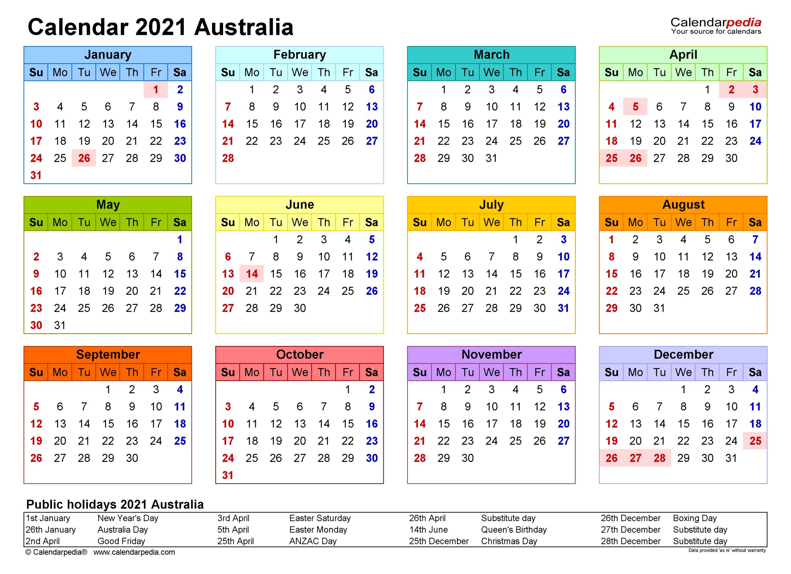 Online 2021 Calendar Template | Calendar Printables Free Templates