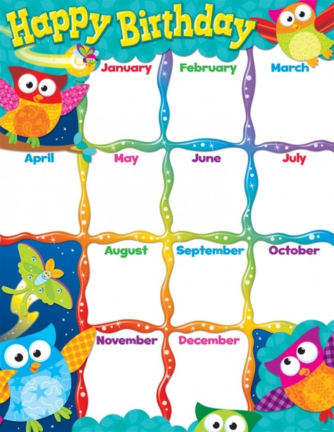 Owl-Stars Birthday Chart - Edsports @ The School Shop