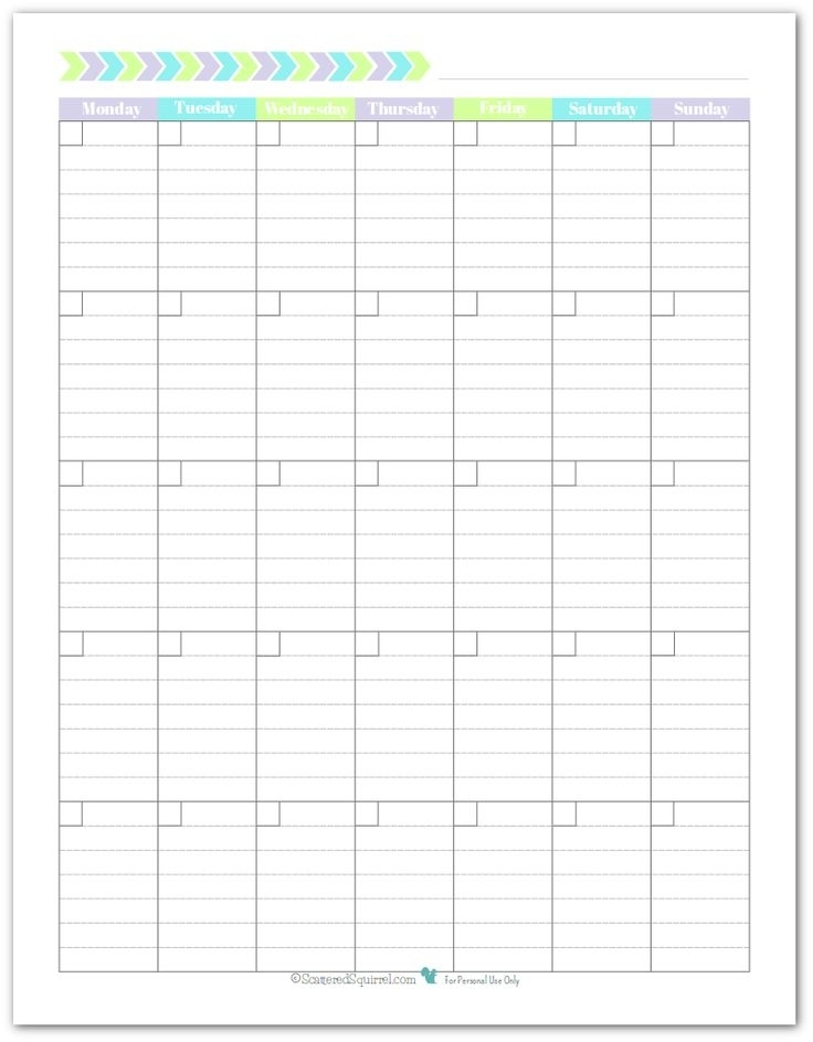 Personal Planner - Free Printables | Blank Monthly Calendar, Monthly Calendar Template