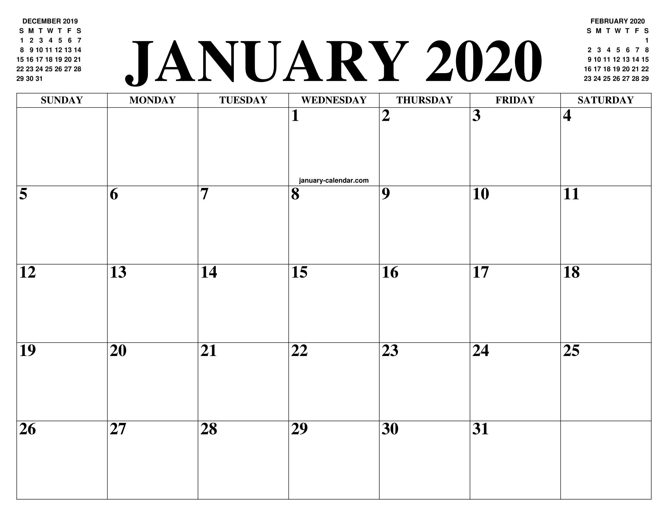 Pick 8.5 X 11 Printable 2020 Calendar   Calendar Printables Free Blank