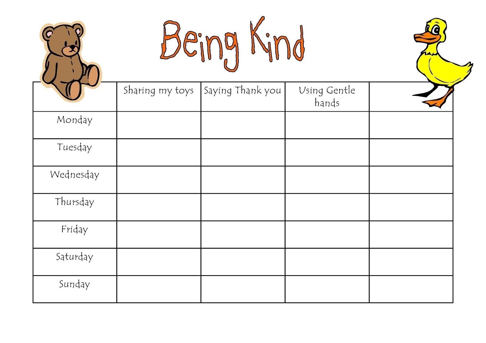 Preschool Reward Chart   Educative Printable