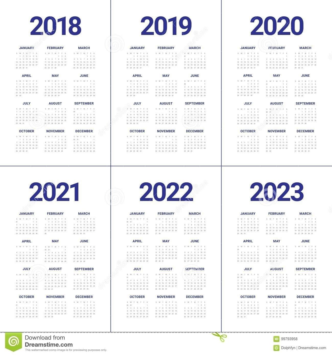 Print 2019, 2020, 2021, 2022, 2023, Calender - Calendar Inspiration Design