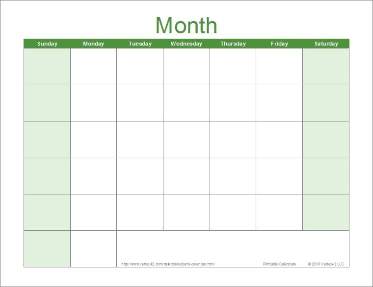 Print Monday Through Sunday Calendar Photo | Calendar Template 2020