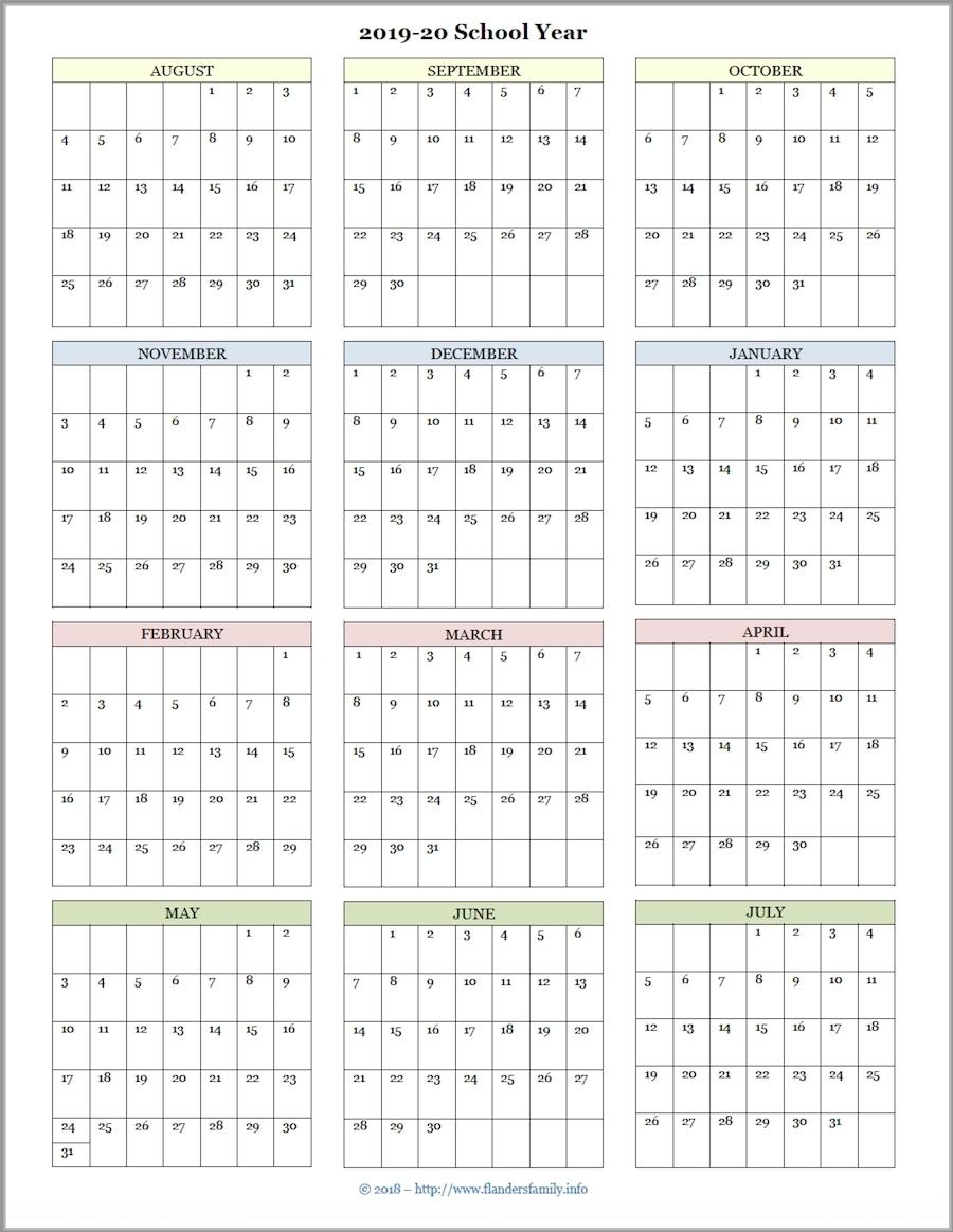 Printable 2020 Academic Calendar | Free Printable Calendar