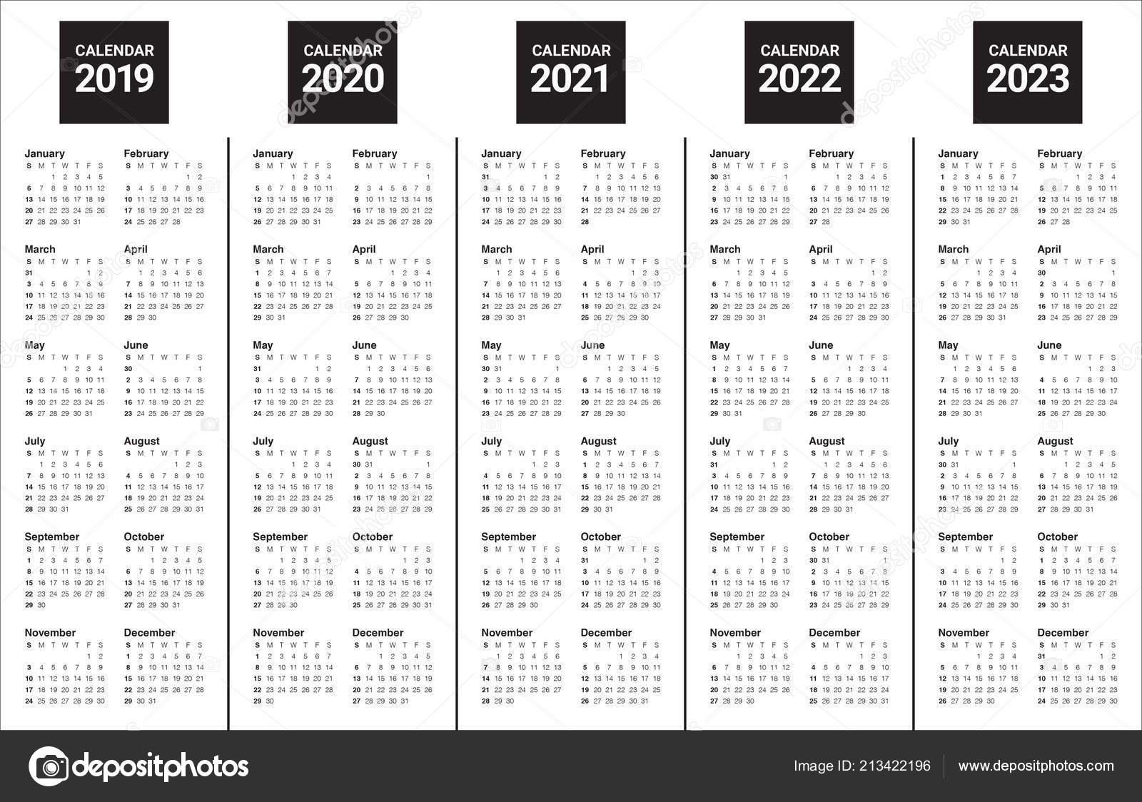 Printable Calendar For 2019/2020/2021/2022/2023 - Calendar Inspiration Design