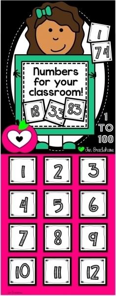 Printable Calendar Numbers For Classroom | Printable Calendar Template 2020