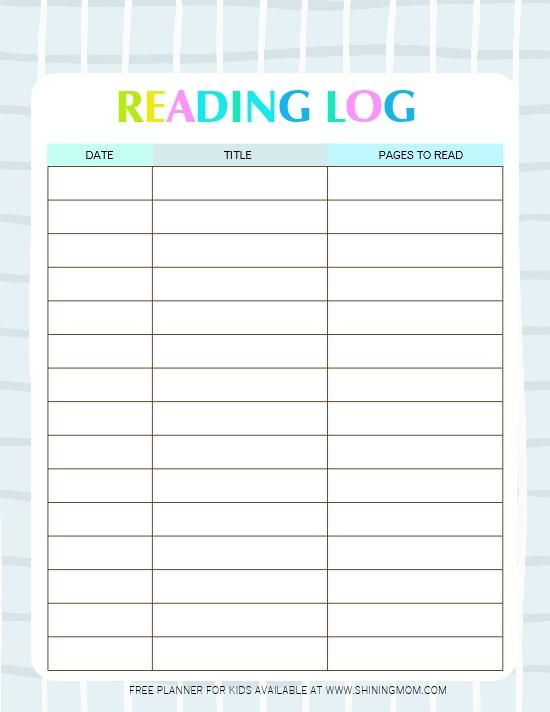 Printable Calendar Reading Logs   Calendar Printables Free Templates