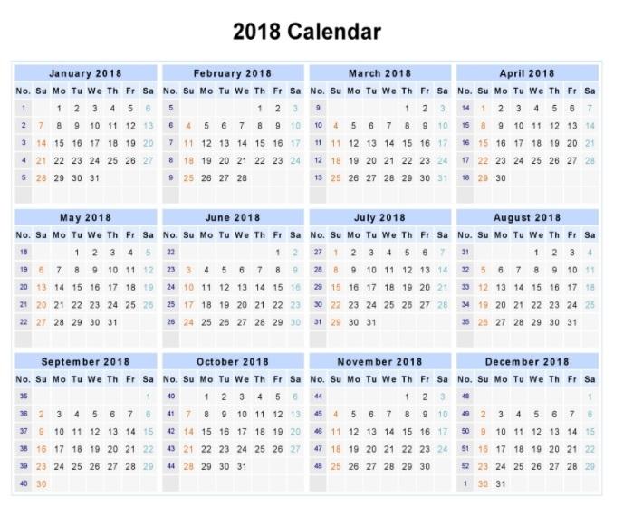 Printable Calendar Year On One Page   Calendar Printables Free Templates