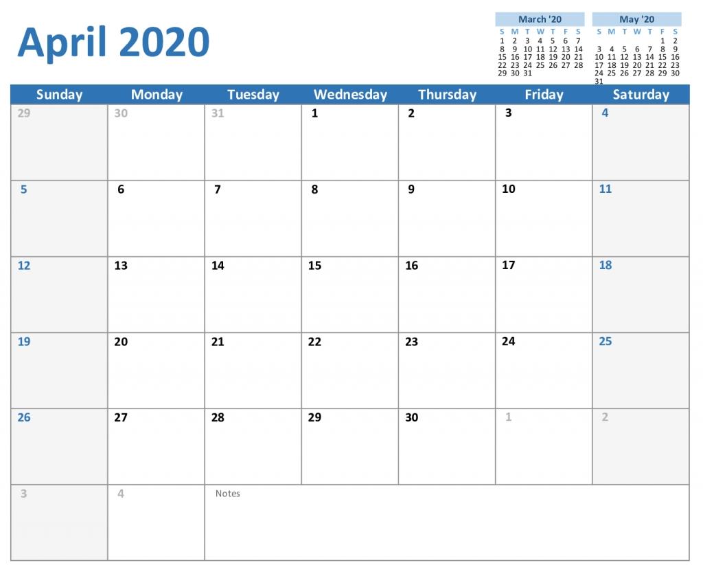Printable Monthly 5 Day Calendar 2020   Example Calendar Printable