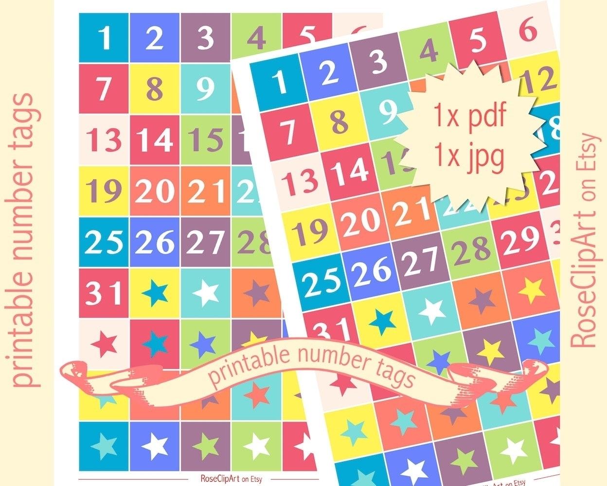 Printable Numbers Up To 31 | Ten Free Printable Calendar 2020-2021