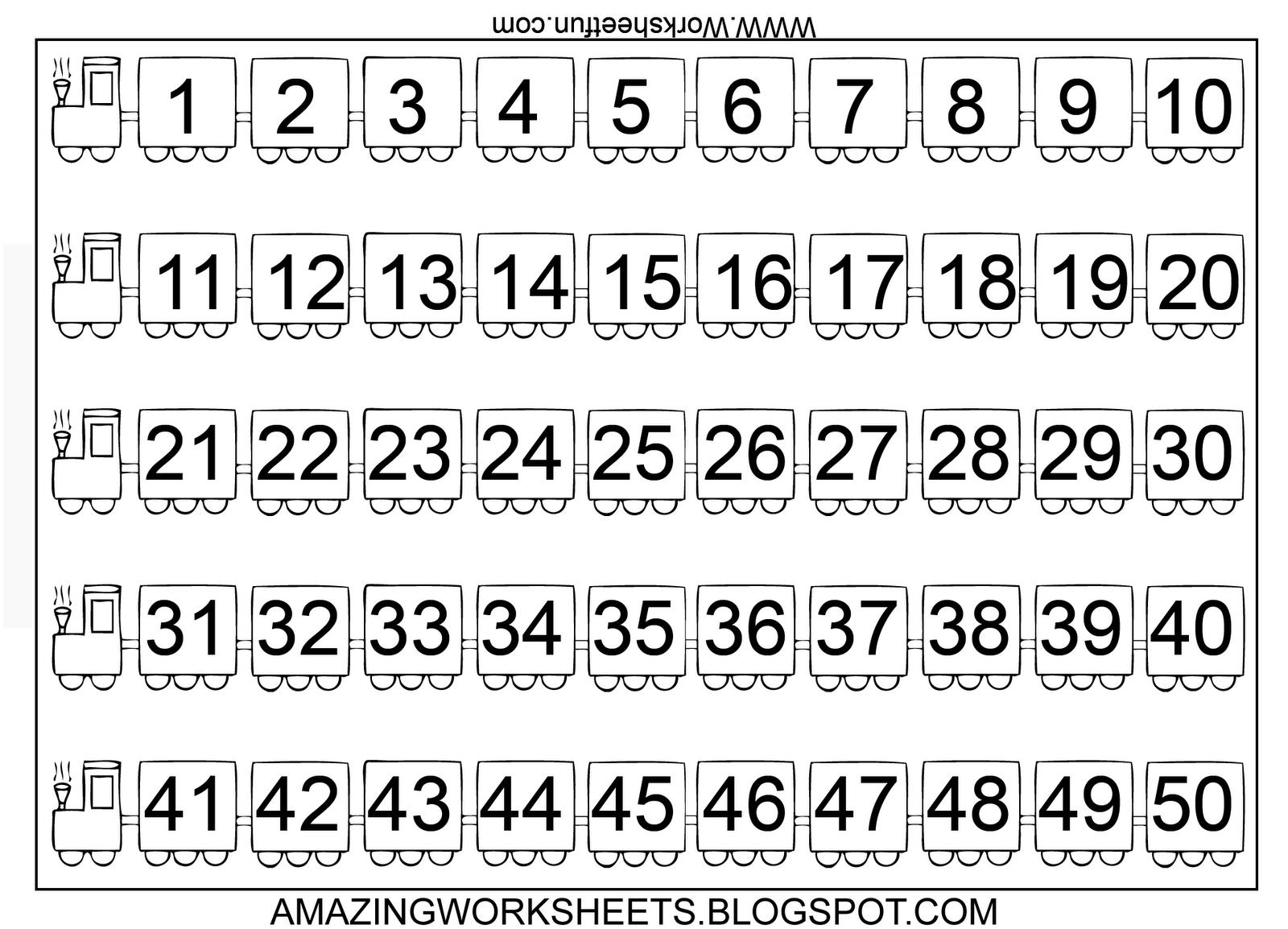 Printable Preschool Numbers 1 31 - Calendar Inspiration Design
