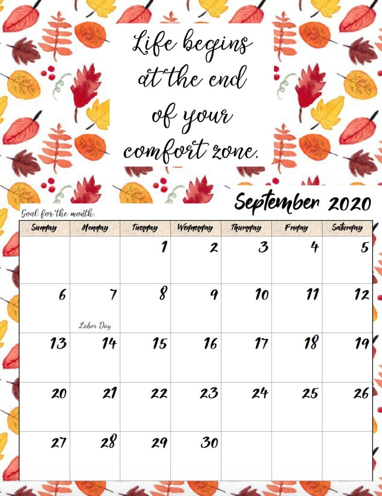 Printable Quote Calendar 2020   Calendar Printables Free Templates