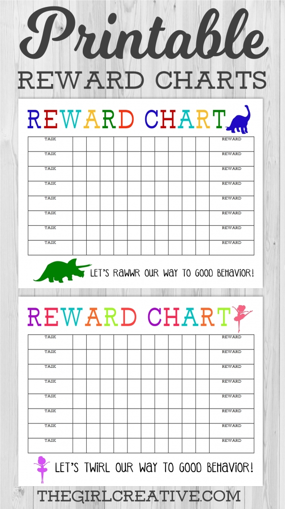 Printable Reward Charts {Boy & Girl} - The Girl Creative