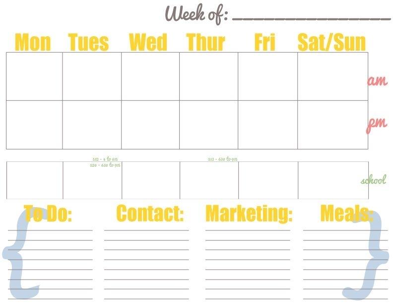 Printable Weekly Calendar - Free Download Printable Calendar Templates