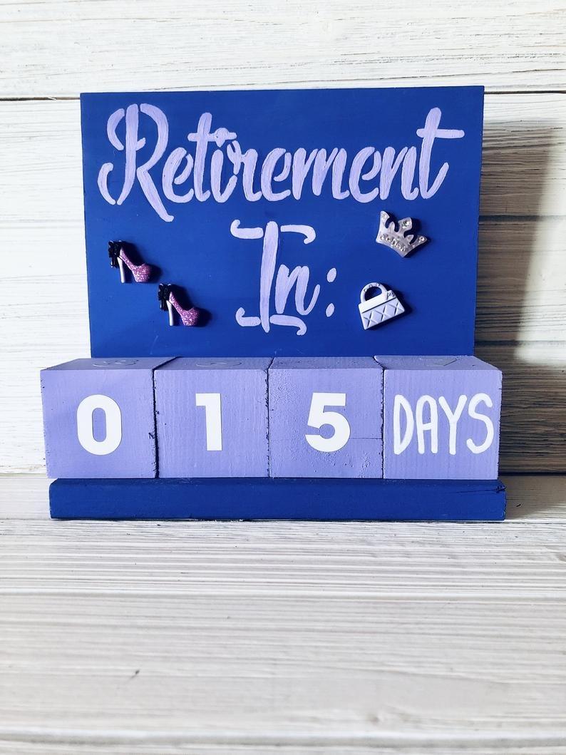 Retirement Countdown Calendar Bling Style   Etsy