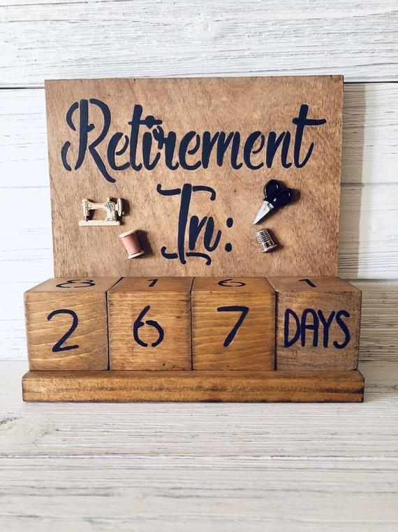 Retirement Countdown Calendar With Blocks Sewing Theme   Etsy