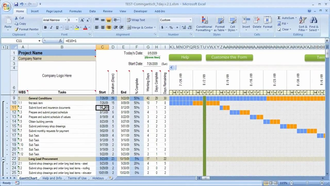 """Search Results For """"Excel Gantt Chart Template"""" - Calendar 2015"""