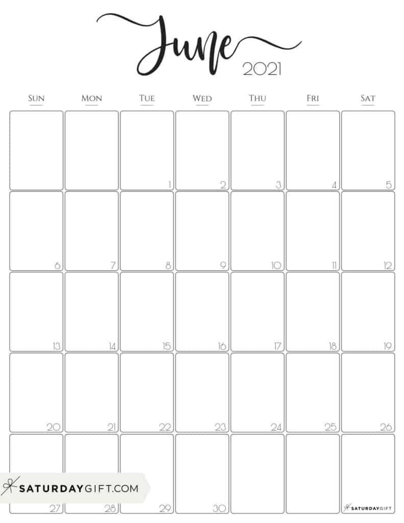 Sunday To Saturday Monthly Calendar 2021 | Calendar Template Printable