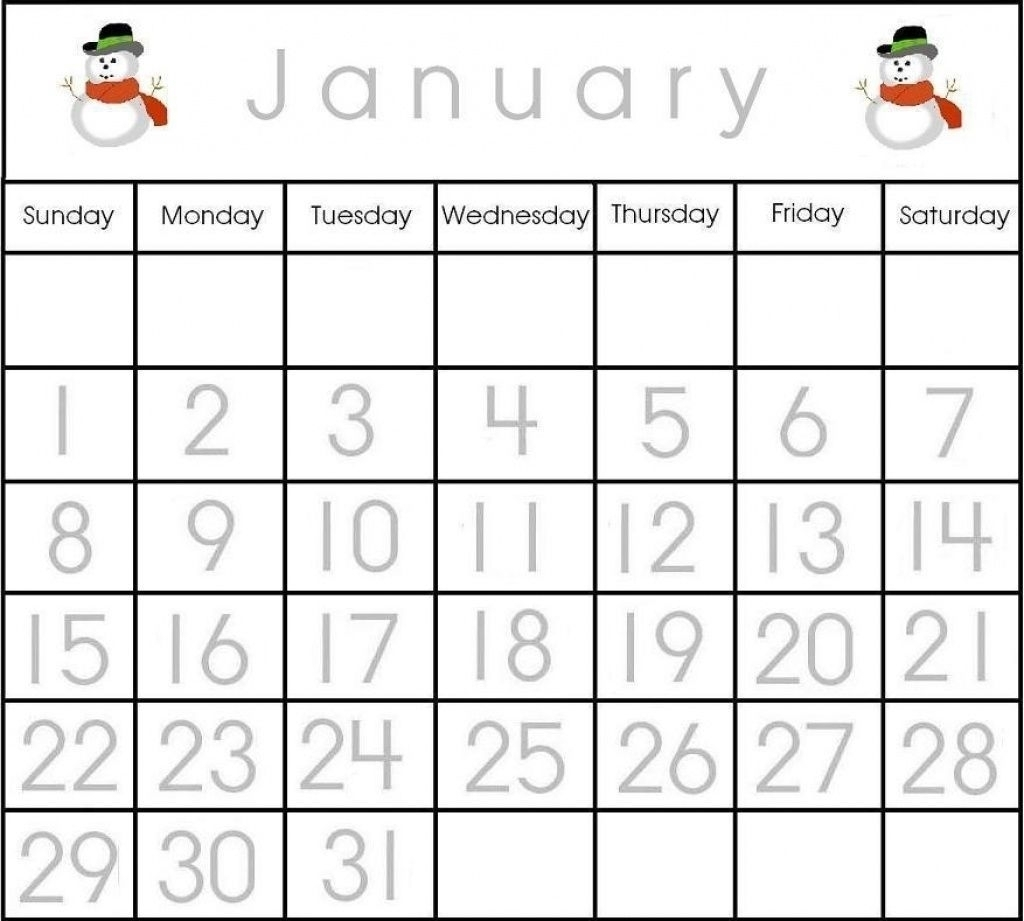 The Printable Calendar Numbers 1-31 | Get Your Calendar Printable