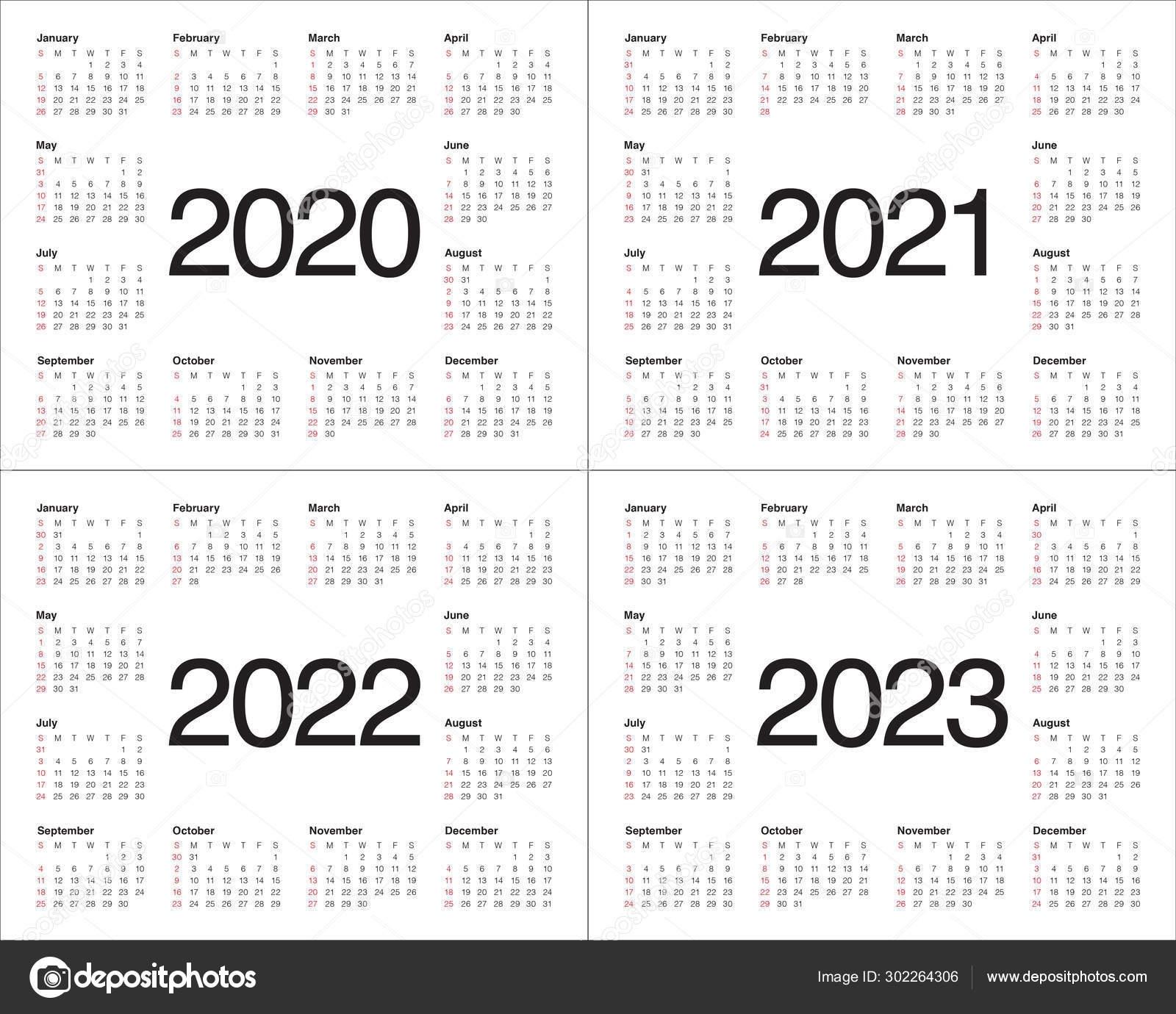 Three Year Calendar 2021-2023 | Calendar Printables Free Blank