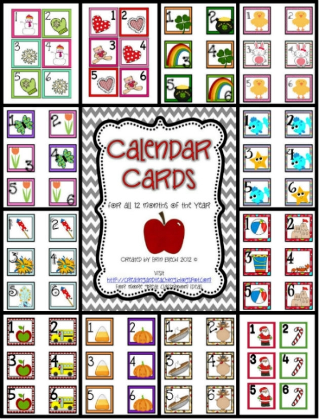 Try It Free Tuesday- 12 Month Calendar Headers | Creating & Teaching