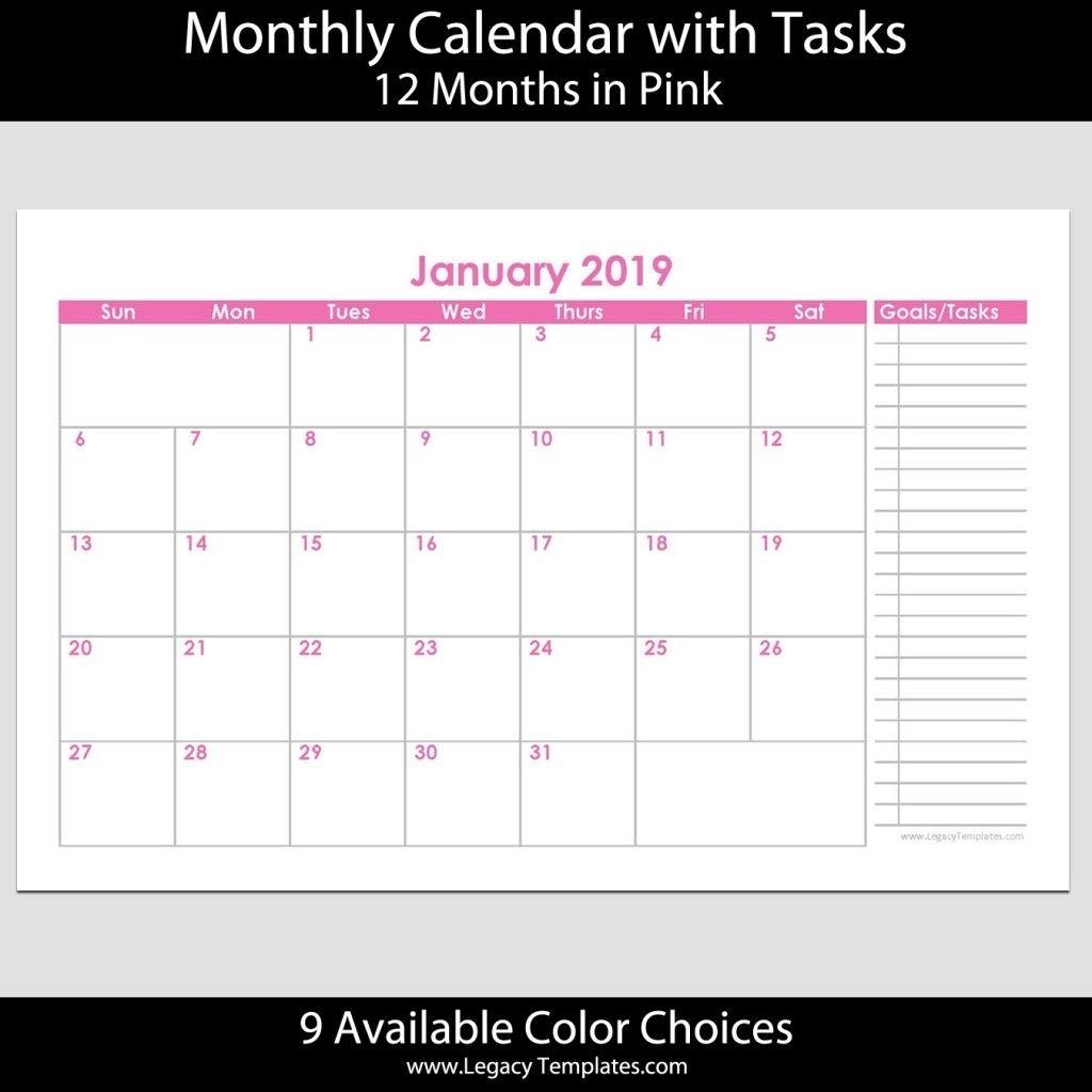 Universal 5.5 X 8.5 Calendar Template   Get Your Calendar Printable