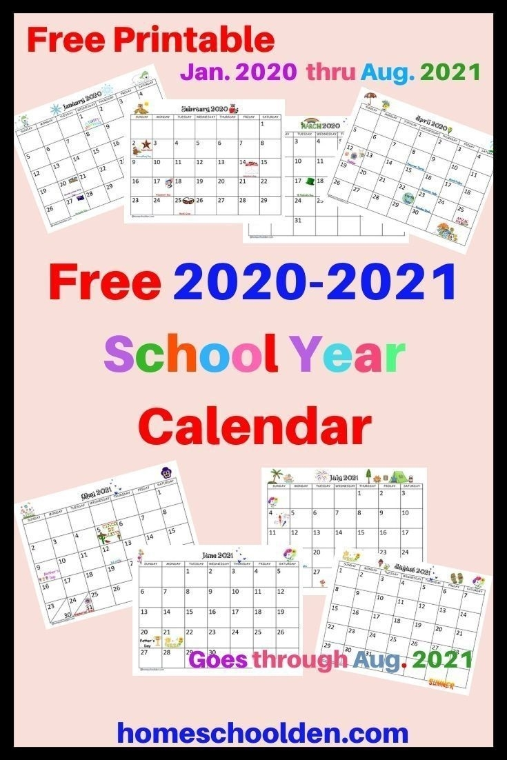 Universal Free Editable Calendars For School | School Calendar Printables, Homeschool Calendar
