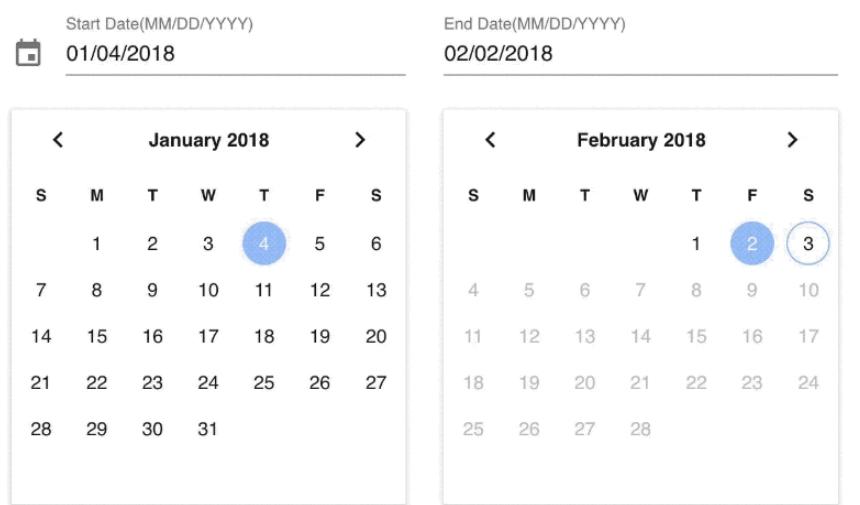Vuetify Date Range Picker-Codespots