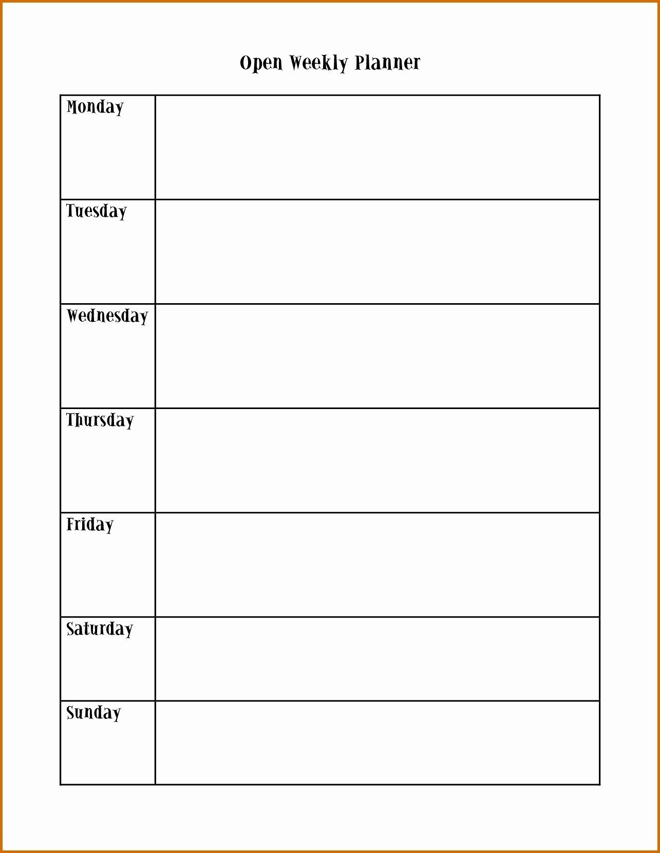 Weekly Calendar Monday Through Friday In 2020 | Monthly Calendar Template, Calendar Template
